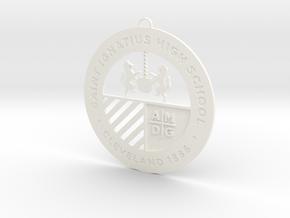 Saint Ignatius Logo Ornament 2014 in White Processed Versatile Plastic