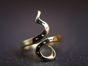 Kiekura, Size 8 (18.2 mm) in Polished Brass