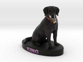 Custom Dog Figurine - King in Full Color Sandstone