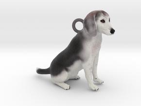 Custom Dog Earrings - Buddy in Full Color Sandstone