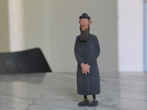 Rabbi 3d Model in Full Color Sandstone