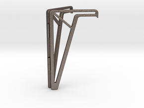 Simple Foldable Phone Stand in Polished Bronzed Silver Steel