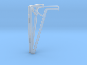 Simple Foldable Phone Stand in Smooth Fine Detail Plastic