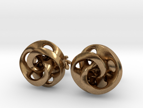 Mobius Cufflinks in Natural Brass