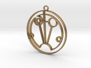 Sophie - Necklace in Polished Gold Steel