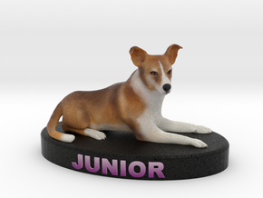 Custom Dog Figurine - Junior in Full Color Sandstone