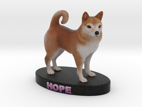 Custom Dog Figurine - Hope in Full Color Sandstone