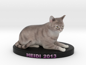 Custom Cat Figurine - Heidi in Full Color Sandstone
