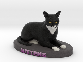 Custom Cat Figurine - Mittens in Full Color Sandstone
