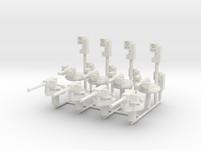 MG100-G00A German Turrets (Spares) in White Natural Versatile Plastic