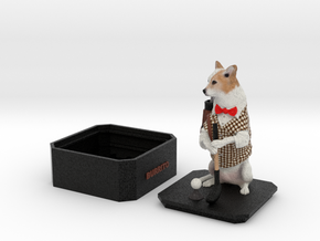 Custom Dog Figurine With Urn - Burrito in Full Color Sandstone