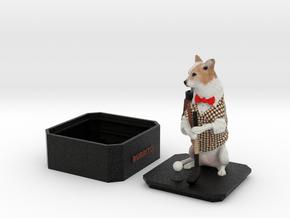 Custom Dog Figurine With Urn - Burrito in Full Color Sandstone