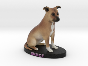 Custom Dog Figurine - Bruce in Full Color Sandstone