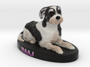Custom Dog Figurine - Baaj in Full Color Sandstone