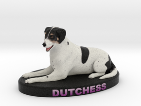 Custom Dog Figurine - Dutchess in Full Color Sandstone