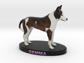 Custom Dog Figurine - Gemma in Full Color Sandstone