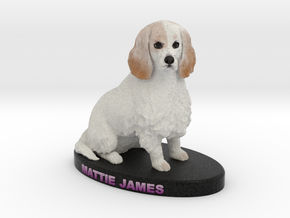 Custom Dog Figurine - Mattie in Full Color Sandstone