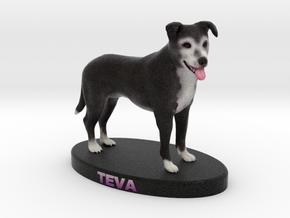 Custom Dog Figurine - Teva in Full Color Sandstone