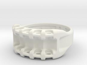 US9.25 Ring IX: Tritium in White Natural Versatile Plastic