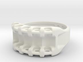 US8 Ring IX: Tritium in White Natural Versatile Plastic