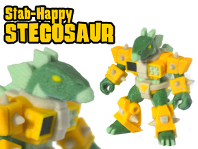 Stab-Happy Stegosaur (Color Sandstone) in Full Color Sandstone