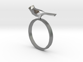 Poly-Bird Ring 5 in Natural Silver