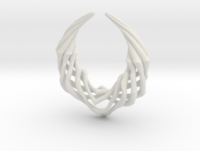 Claw Pendant in White Natural Versatile Plastic