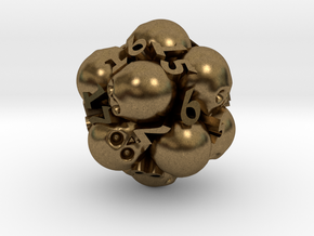 Spin-Down Ossuary d20 in Natural Bronze