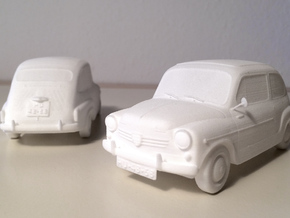 Fiat 600 in White Strong & Flexible