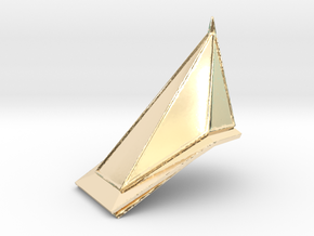 Red Pyramid Thing in 14K Yellow Gold