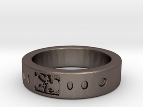 AnelloCAT RING in Polished Bronzed Silver Steel