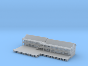 Ship Dock With Buildings in Smooth Fine Detail Plastic