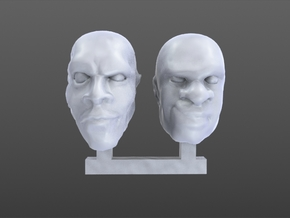 heads 28 mm in Smooth Fine Detail Plastic