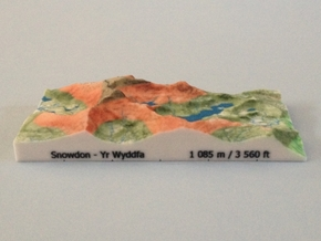 Snowdon - Relief in Full Color Sandstone
