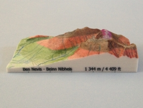 Ben Nevis - Relief in Full Color Sandstone
