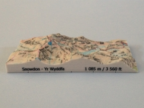 Snowdon - Map in Full Color Sandstone