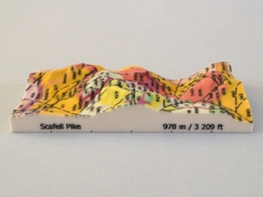 Scafell Pike - Strata in Full Color Sandstone