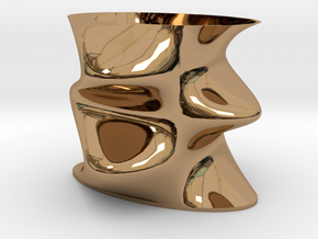Funky Vase in Polished Brass