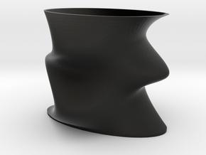 Funky Vase in Black Natural Versatile Plastic