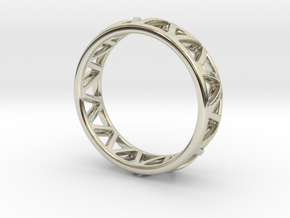 Truss Ring 2 size 10.5 in 14k White Gold