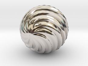 Wave Ball in Platinum