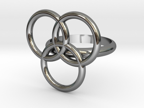 Circular Ring-14 mm in Fine Detail Polished Silver