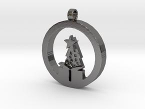 Christmas Morning Pendant in Polished Nickel Steel