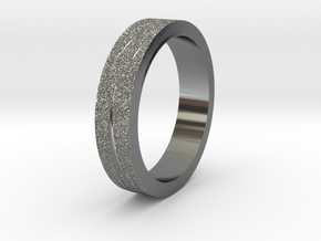 Textured Ring in Fine Detail Polished Silver