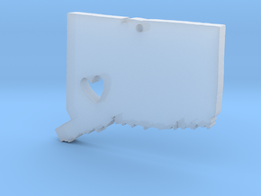 I love Connecticut Necklace in Smooth Fine Detail Plastic