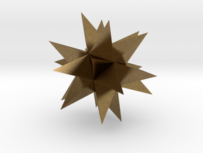 Great Stellated Dodecahedron in Natural Bronze