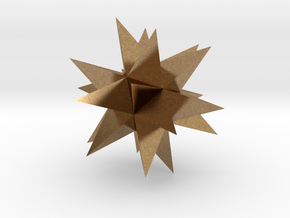 Great Stellated Dodecahedron in Natural Brass