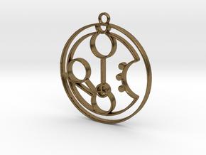 Morgan - Necklace in Natural Bronze