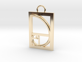 Golden Ratio Pendant in 14K Yellow Gold