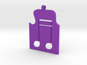 Music Pendant in Purple Processed Versatile Plastic